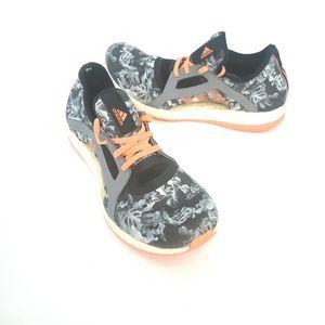 Adidas pureboost x floral size 8 grey orange